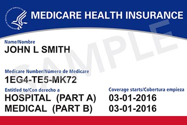 Example of new Medicare card