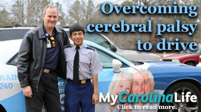 Overcoming cerebral palsy to drive