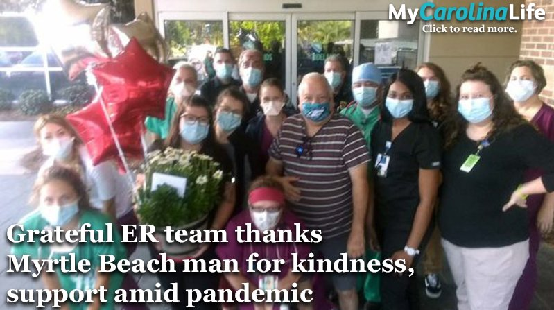 Grateful ER team thanks man for kindness