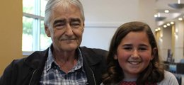 A grandaughter and her grandfather