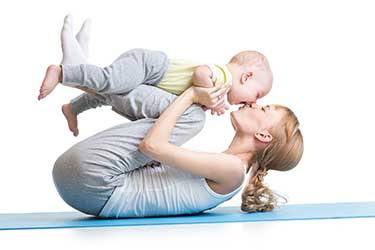 Mom and child exercise