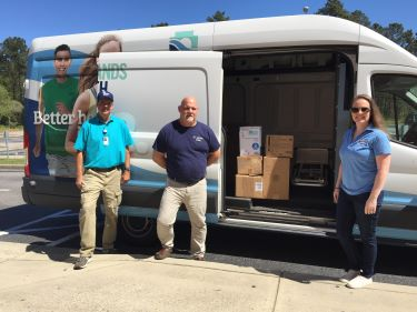 Tidelands Health picks up donation of medical supplies from St. James High School
