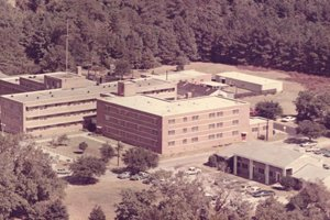 An old image of Tidelands Georgetown Memorial Hospital during the 1960s.