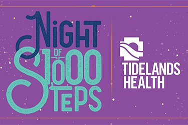 "Graphic that says ""Night of 1,000 Steps"""