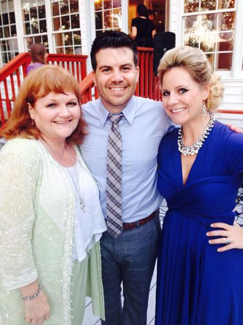 Lesley Nicol, left, with Brent Nicol of Tidelands Health and his wife, Shanda