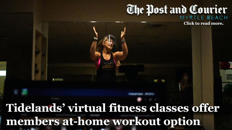 Tidelands virtual fitness classes offer member at home workout option