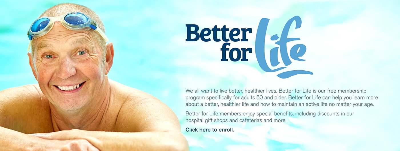 If you're 50 or older, join Better for Life with Tidelands Health.