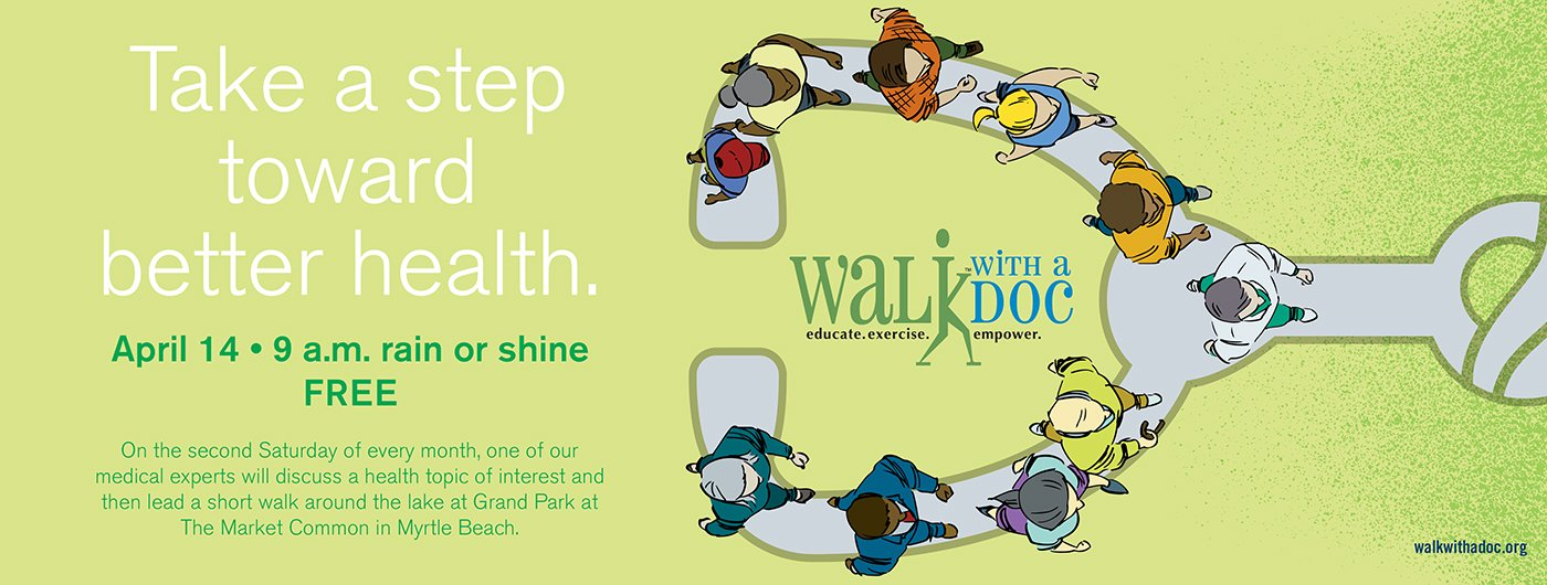 Join us April 14 at The Market Common for April's Walk With a Doc program.