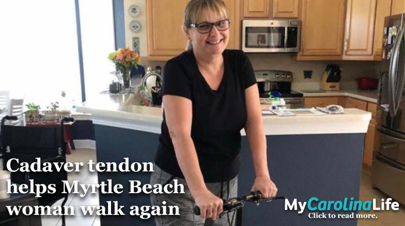 Cadaver tendon helps myrtle beach woman