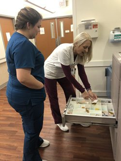 Student Kayla Grainger spent the day in Tidelands Waccamaw Community Hospital for a job shadowing program.