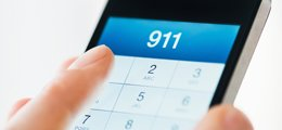 A phone with 911 dialed in.
