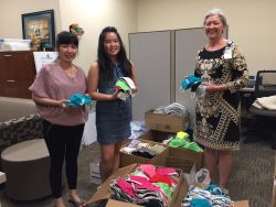 Julie Huynh, her niece Jennifer Nguyen and Cynthia Dominick with Tidelands Health