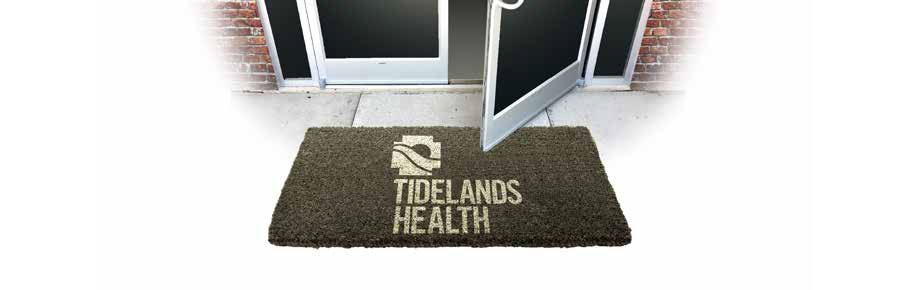 Opening door at a Tidelands Health facility