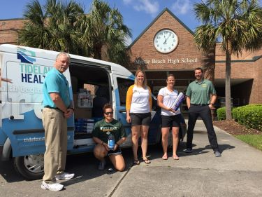 Myrtle Beach High School donates to Tidelands Health