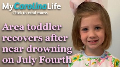 Toddler recovers after near drowing