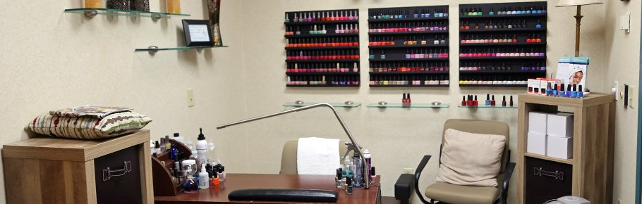 The day spa nail treatment center.