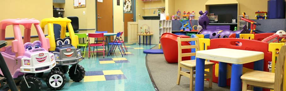 The Fit For Kids Child Care room at Tidelands HealthPoint.