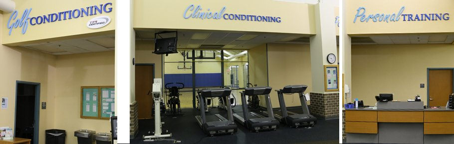 Several photos depicting the clinical conditioning opportunites of Tidelands HealthPoint.