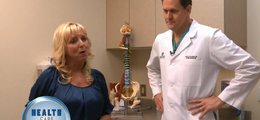 An orthopedic surgeon speaks to the host of The Health Care Minute